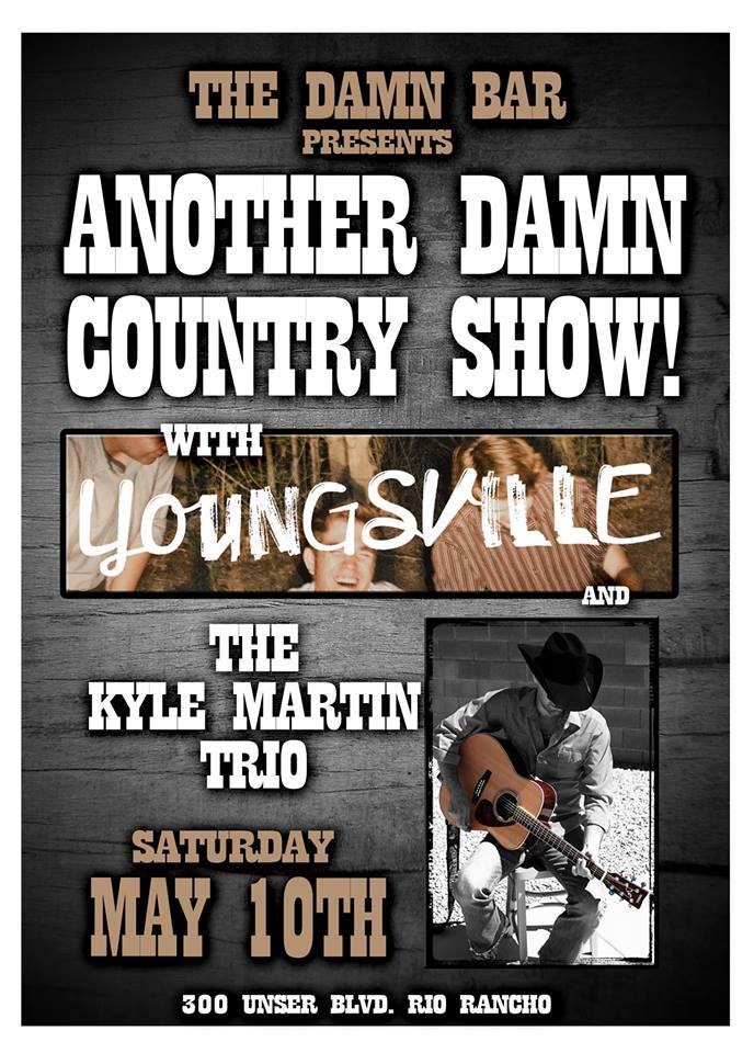 Youngsville at The Damn Bar May 10th 9:30pm