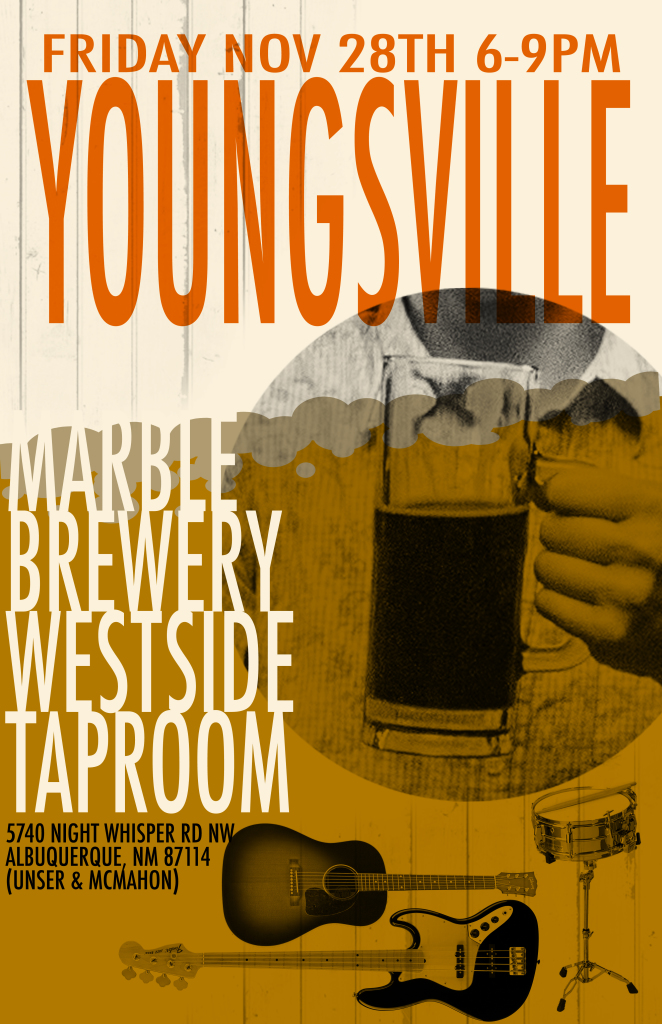 The Band, Youngsville, are heading to the far west... of Albuquerque to sling their songs on Black Friday at the Marble West Side Taproom.