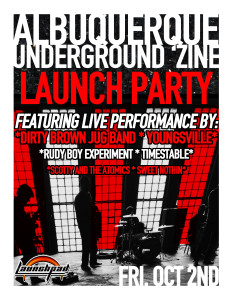 Youngsville play for the launch of Albuquerque Underground 'Zine