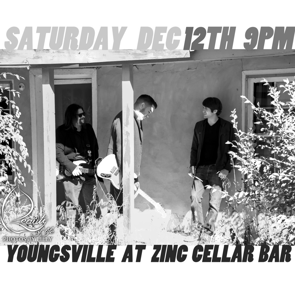 The band Youngsville return to Zinc Cellar Bar in Nob Hill, Albuquerque to play their brand of indie-rock n roll music all night long!