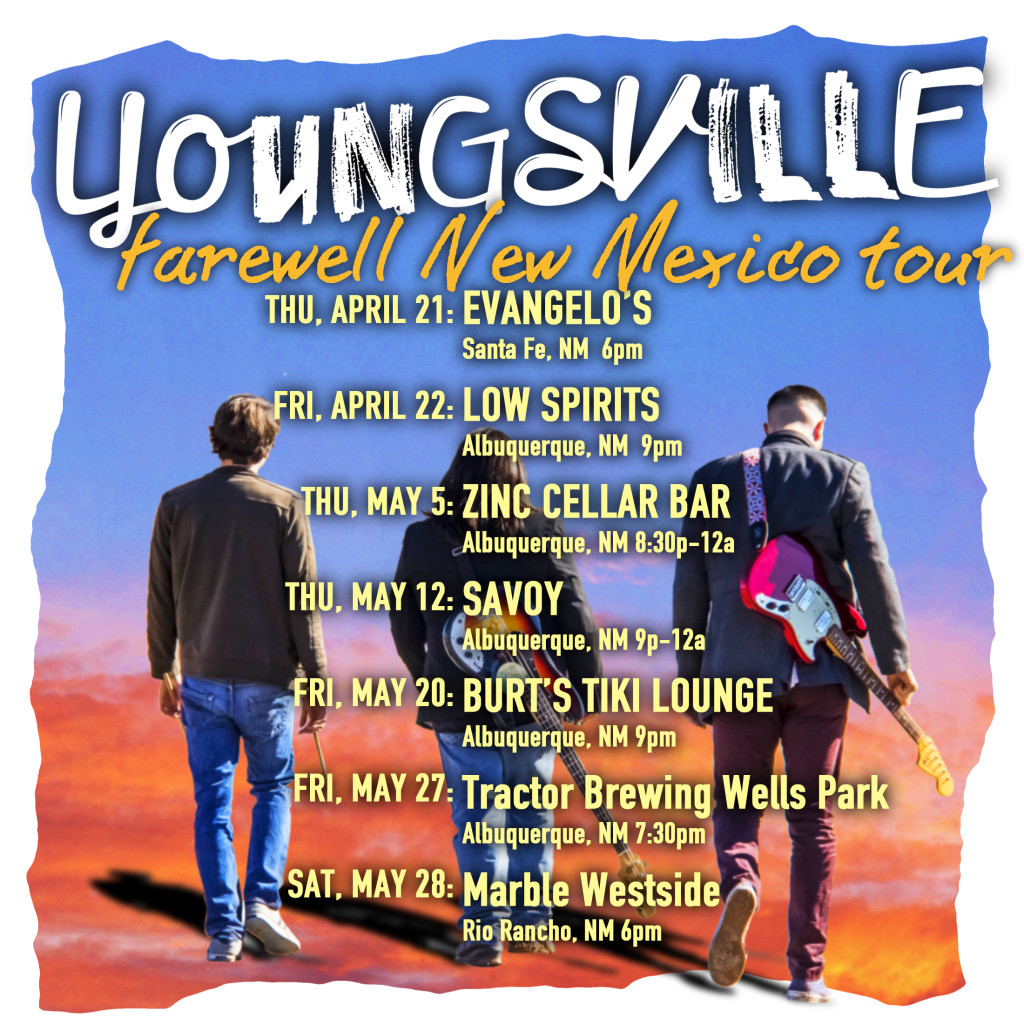 Youngsville re-locate from their home State of New Mexico to jump headfirst into the deep end of Austin, TX music scene.